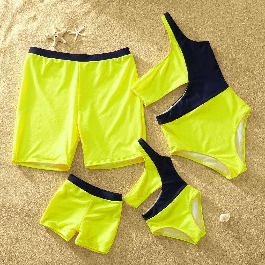 Neon Family Matching Swimsuits