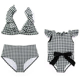Mommy & Me Plaid Bathing Suits ( Red & Black)