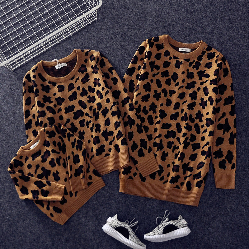 Family Leopard Matching Sweaters - EllMii Boutique