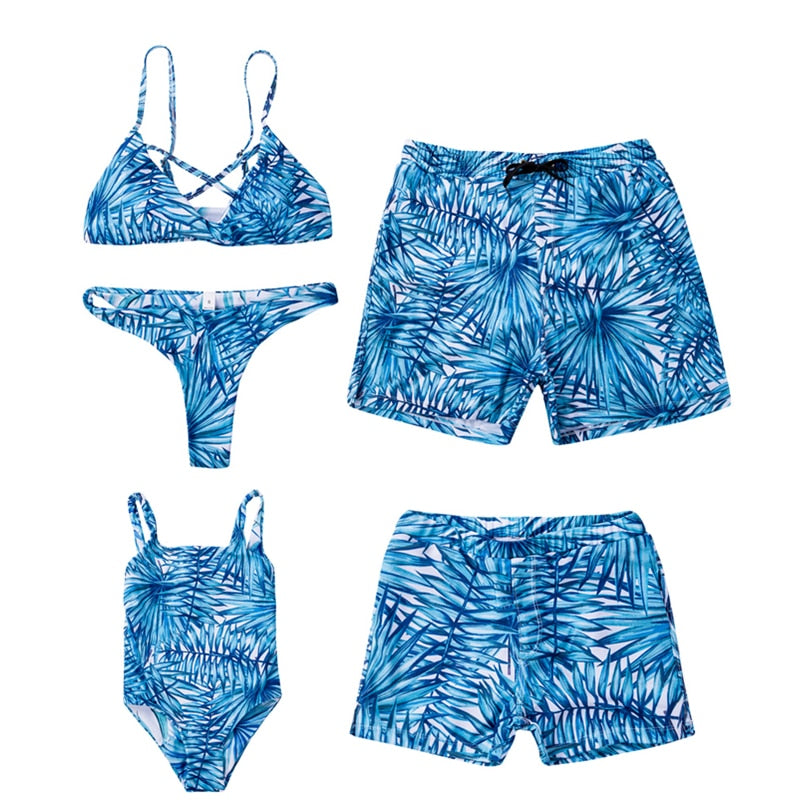 Blue Wave Family Matching Swimsuit - EllMii Boutique