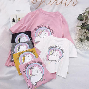 Believe In Dreams Unicorn Tee - EllMii Boutique