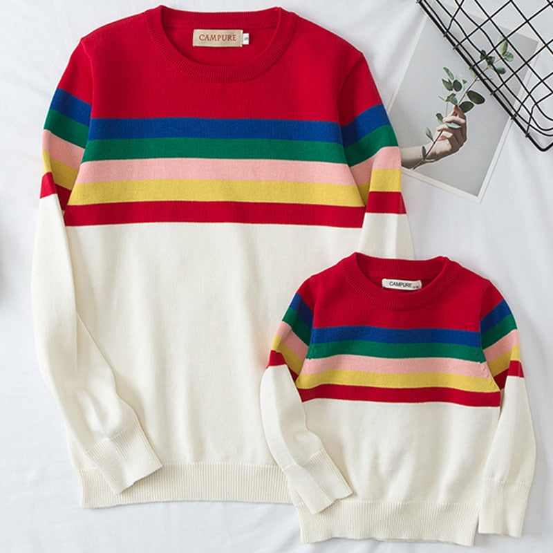 Rainbow Cotton Sweater's