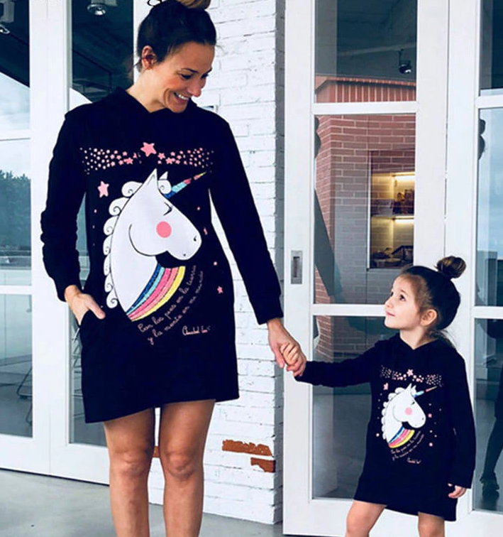 Unicorn Hoodie Dress - EllMii Boutique