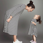 Zebra Striped Light Dress - EllMii Boutique