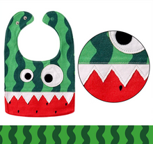 Watermelon Monster Bib