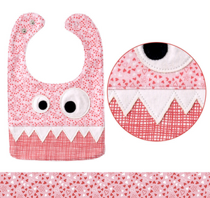 Hearts Monster Bib