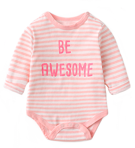 Be Awesome Long Sleeve Romper