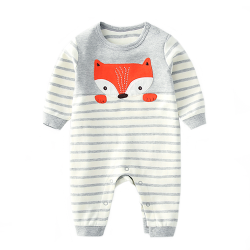 Grey Stripes Fox Jumpsuit