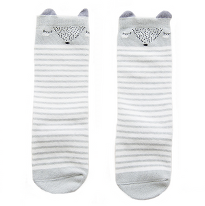 Grey Fox Knee High Socks