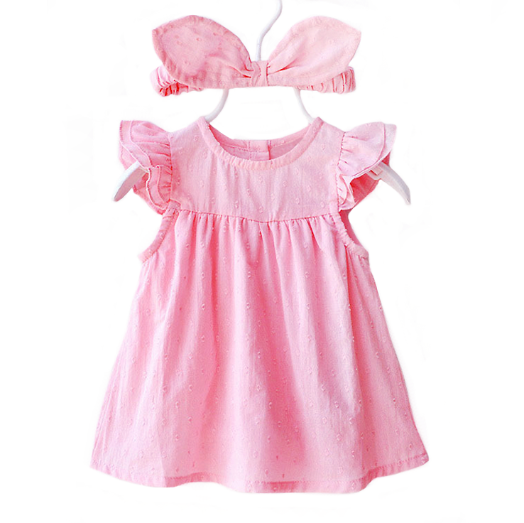 Kelly Pink Bodysuit Dress with Headband