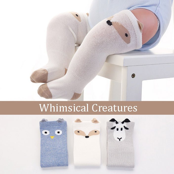 Whimsical Creatures Knee High Socks