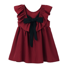 Melissa Bow Tie Dress in Red