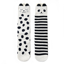 Panda Knee High Socks Set