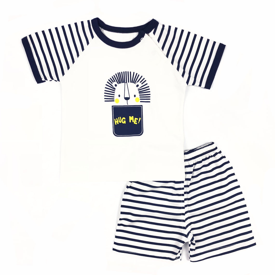 Stripe Lion Short Sleeve Tee & Shorts