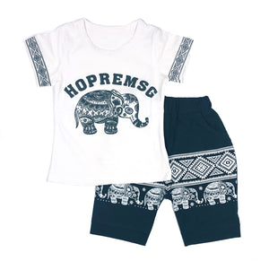 The Elephant tee and short set