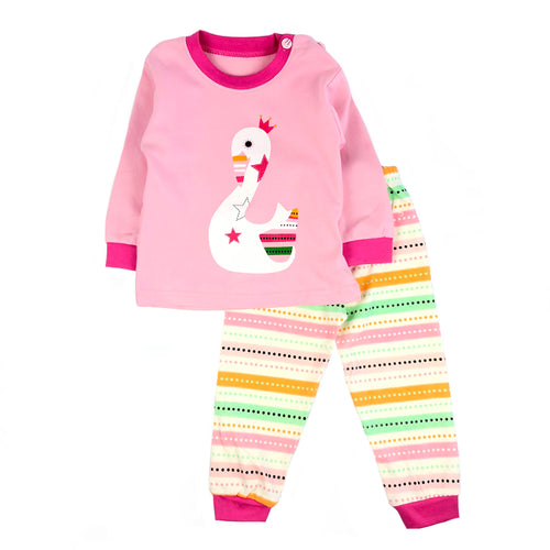 Swan Long Sleeve Pajamas