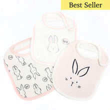Pink Rabbit Bib Set