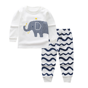 Elephant Long Sleeve Pajamas