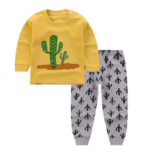 Cactus Long Sleeve Pajamas