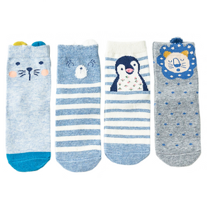 Blue Animal Socks Set