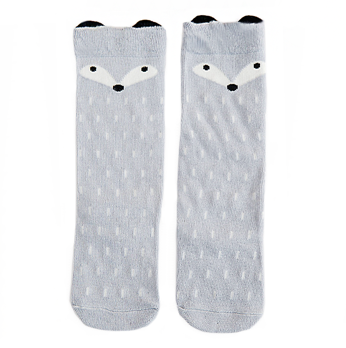 Foxy Grey Knee High Sock