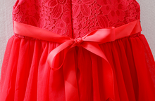 Red Lace Cheong Sam Dress