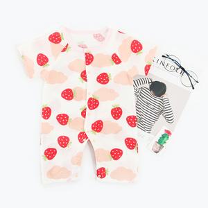 Fruity Strawberry Muslin Onesie