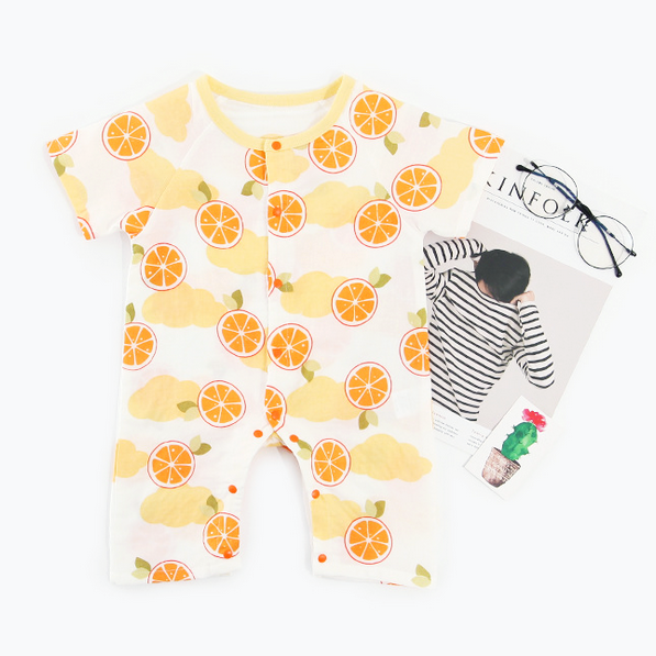 Fruity Orange Muslin Onesie