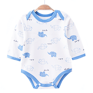 Elephant Origami Long Sleeve Romper