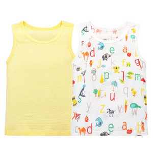 Alphabet Animals Mesh Singlet Set