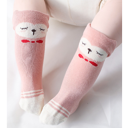 Pink Blush Bear Knee High Socks