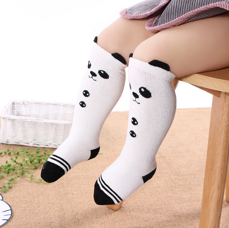 Panda Knee High Socks