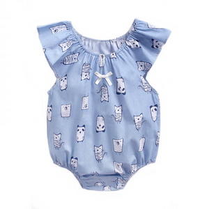 Sweet Blue Bears Romper