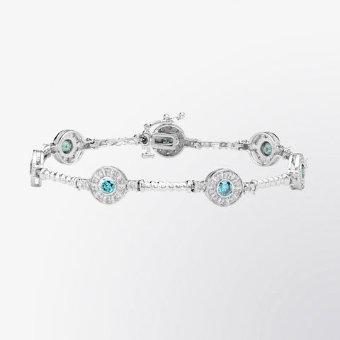 Blue Diamond and Diamond Bracelet