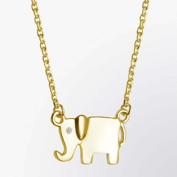 Diamond Elephant Necklace