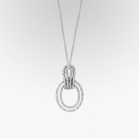 Double Border Diamond Pendant
