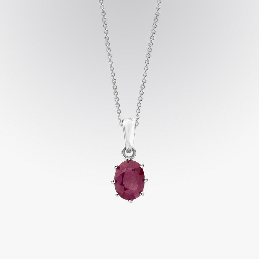 Solitaire Ruby Pendant