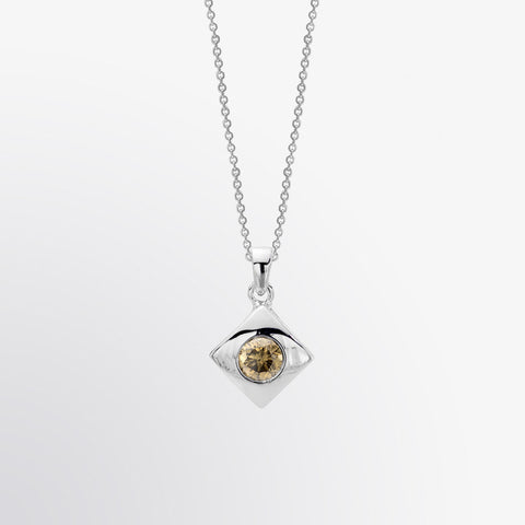 Brown Diamond Solitaire Pendant