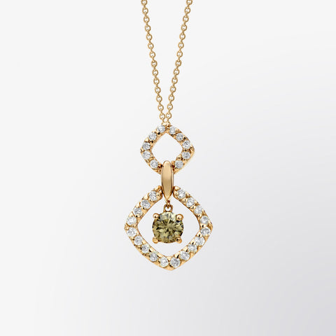 Brown Diamond and Diamond Link Pendant