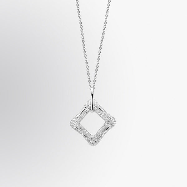 Diamond Shaped Diamond Pendant