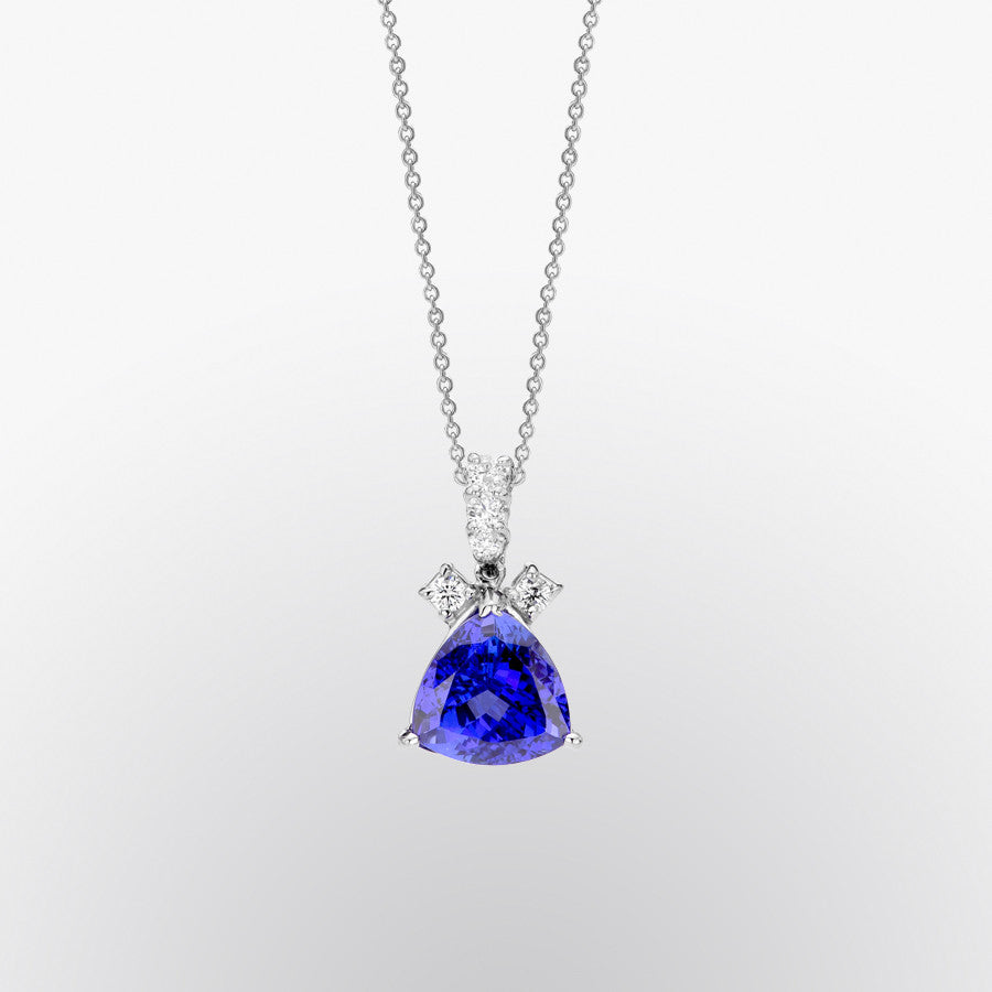 tanzanite trillion ring richland halo diamond product premier ct and