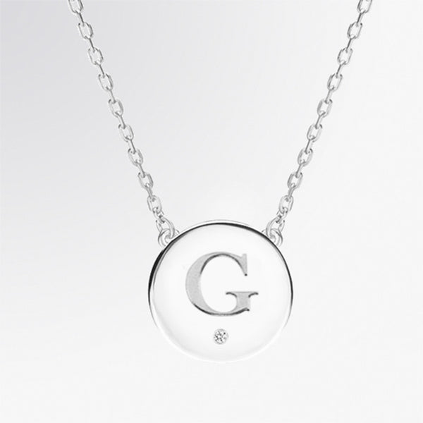 Personalized Diamond Letter Pendant