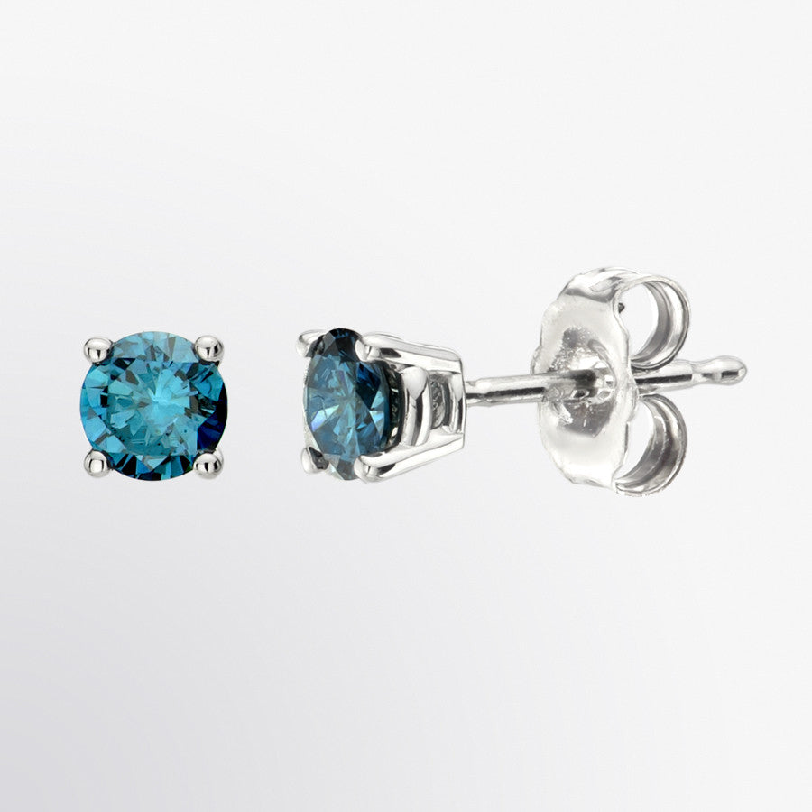 blue earrings co claw bristol uk jewellery stud studs glass