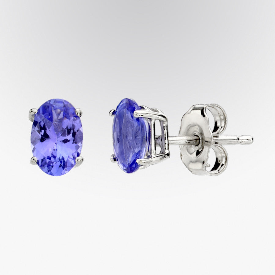 Tanzanite Stud Earrings