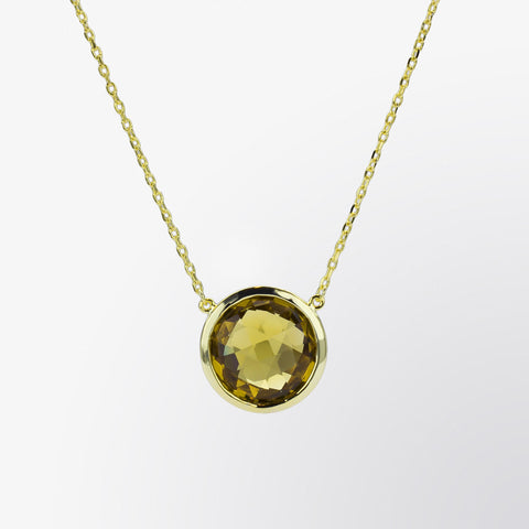 Round Shaped Citrine Pendant