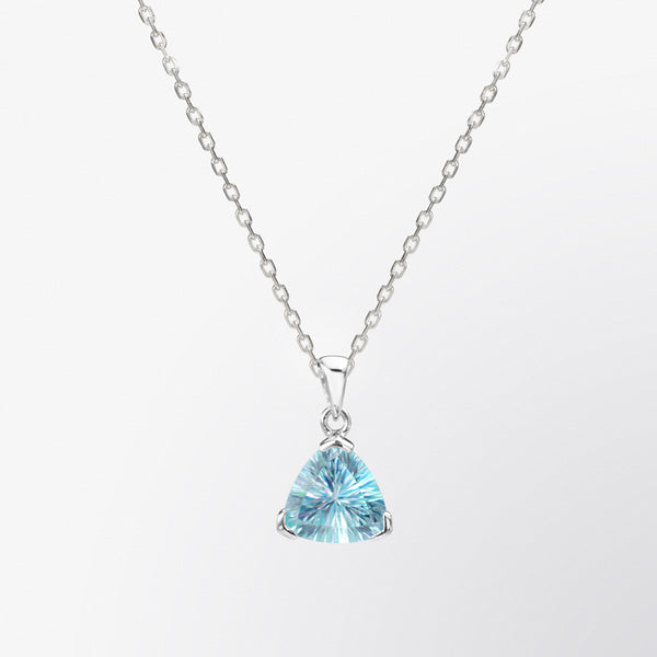 Trillion Shaped Blue Topaz Pendant