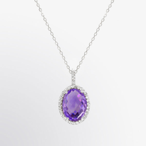 Oval Shaped Amethyst Pendant