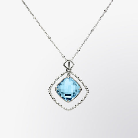 Blue Topaz Orbit Pendant