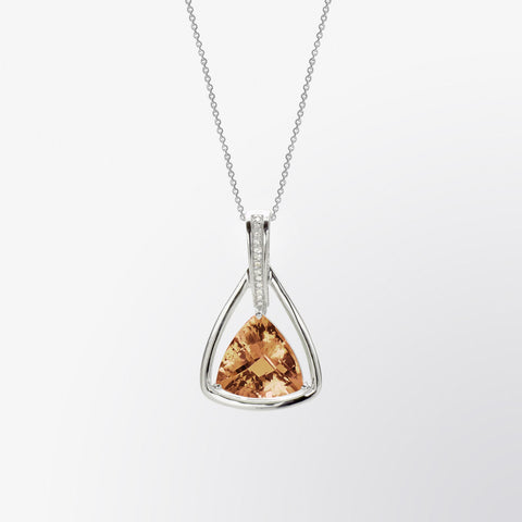 Cognac and Diamond Pendant