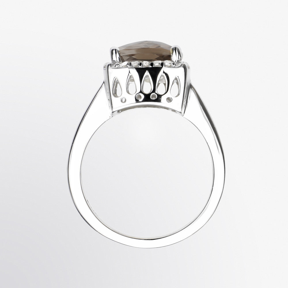 Smoky Topaz Cocktail Ring